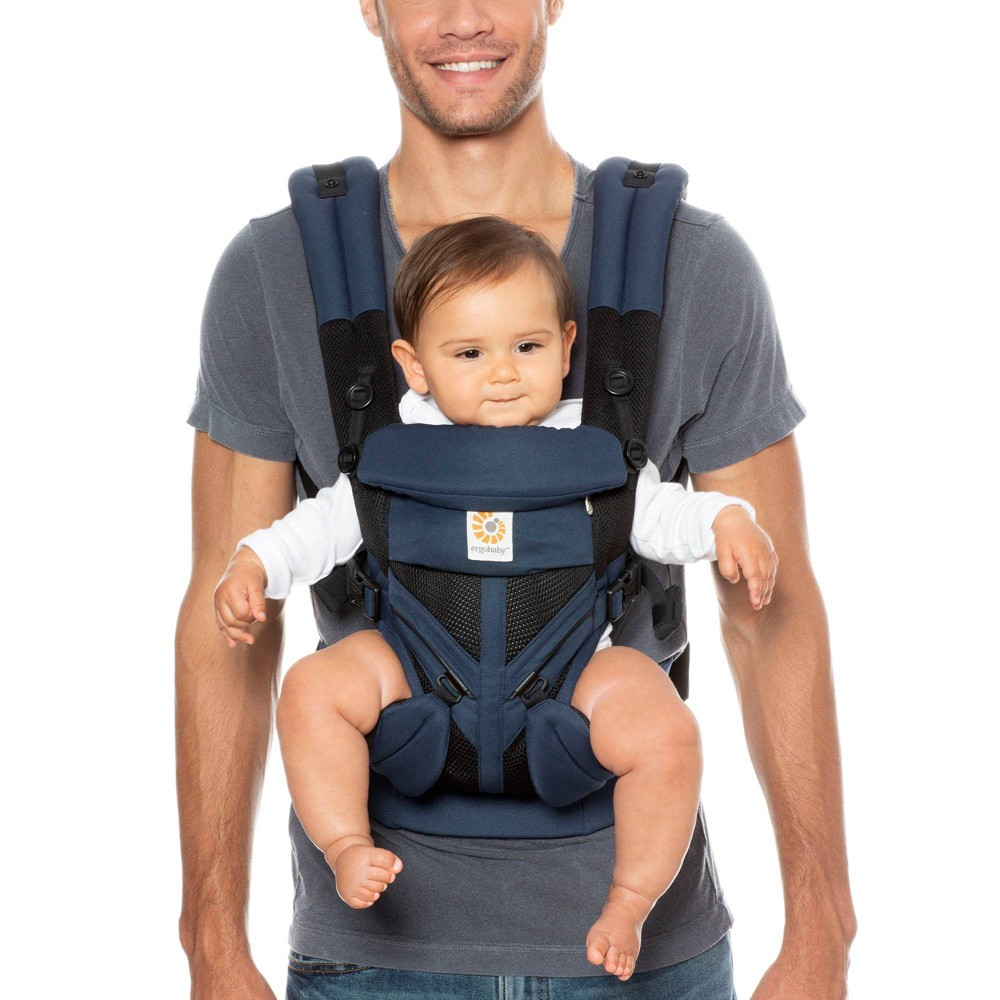 Image of Ergobaby Omni 360 Cool Air Mesh All Carry Positions Baby Carrier - Raven, Black