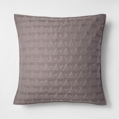 Gray Triangle Stitched Jersey Sham (Euro)- Project 62™ + Nate Berkus™