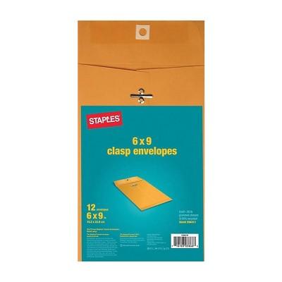 Staples Kraft Clasp Envelopes Brown 12/Pack (594411/19003)