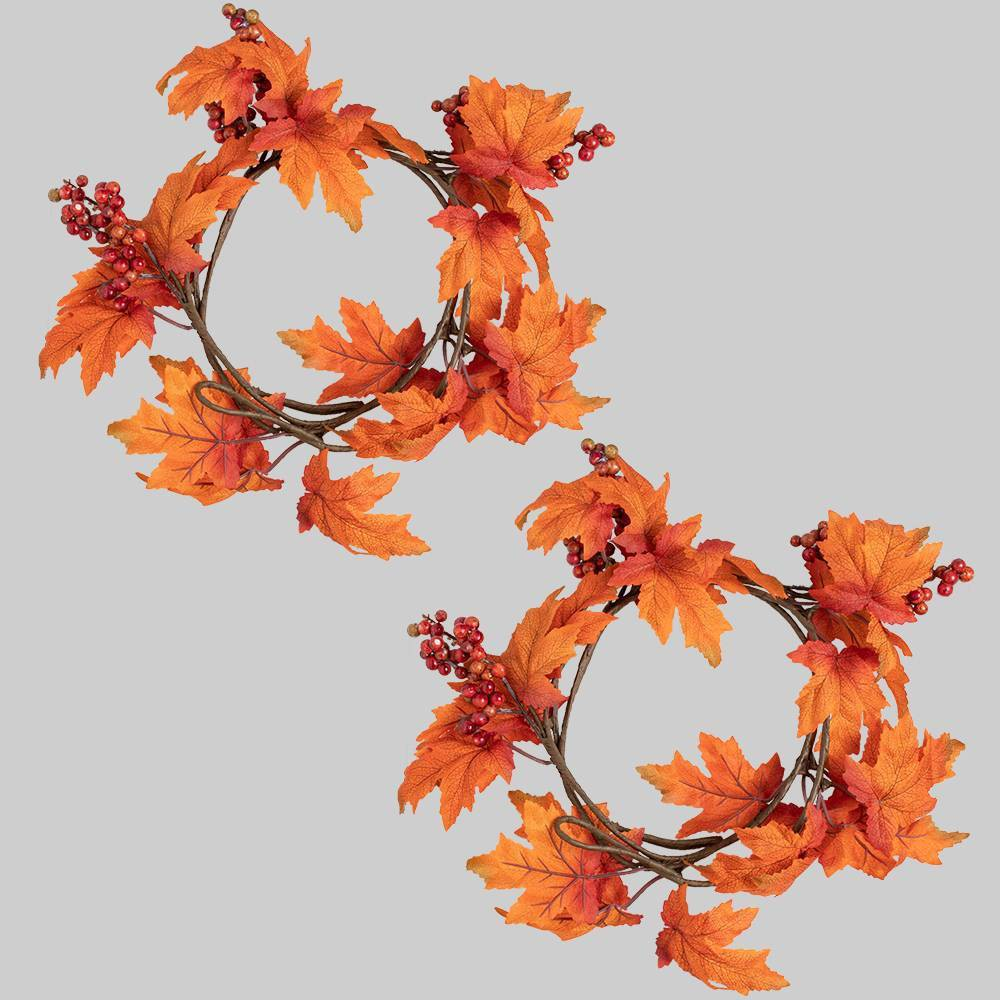 2pk Garland Fall Leaves - Bullseye's Playground was $10.0 now $5.0 (50.0% off)