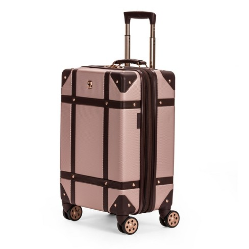 swissgear 19 hardside trunk expandable carry on suitcase blush target