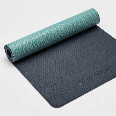 Two Tone Yoga Mat 5mm Navy Blue/Light Blue - All in Motion™