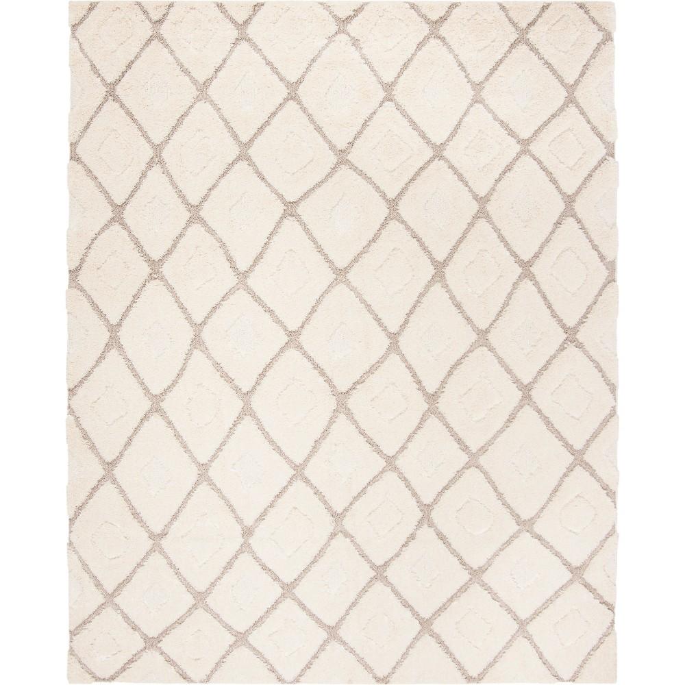 8 X10 Geometric Loomed Area Rug Cream Beige Safavieh