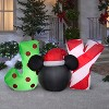 """Gemmy Christmas Airblown Inflatable Inflatable Mickey Mouse """"JOY"""" Sign, 2.5 ft Tall, Black - image 2 of 2"""