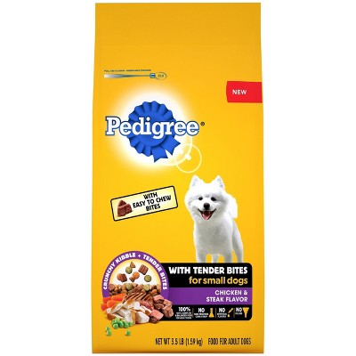 Pedigree with Tender Bites Chicken & Steak Flavor Small Dog Adult Complete & Balanced Dry Dog Food