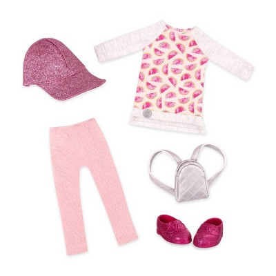 """Glitter Girls Head-to-Toe Glimmer Fashion Outfit for 14"""" Dolls"""