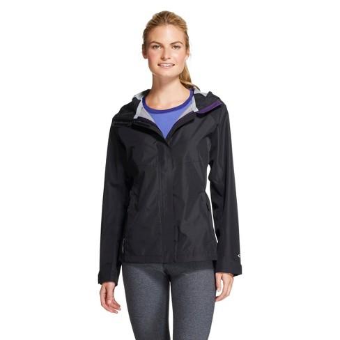 Women's Breathable Rain Jacket - Black L - C9 Champion® - image 1 of 1