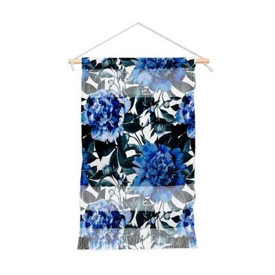 Marta Barragan Camarasa Indigo Floral Wall Hanging Portrait Blue - Deny Designs