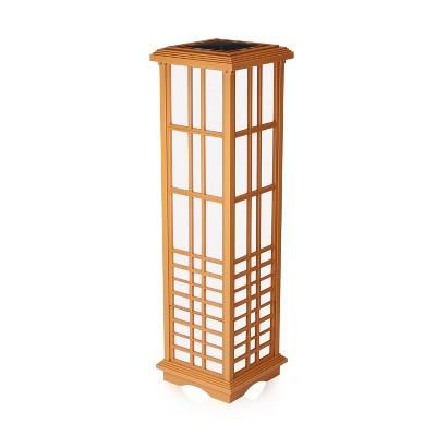 """33.4"""" Solar Zen LED Outdoor Lantern Amber/White Light - Techko Maid"""