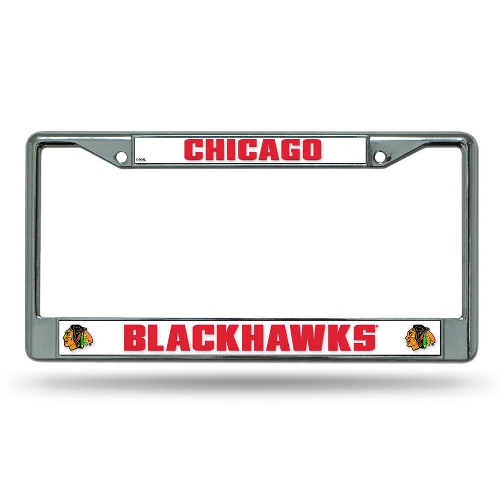 Chicago Blackhawks Rico Industries Chrome License Plate Frame