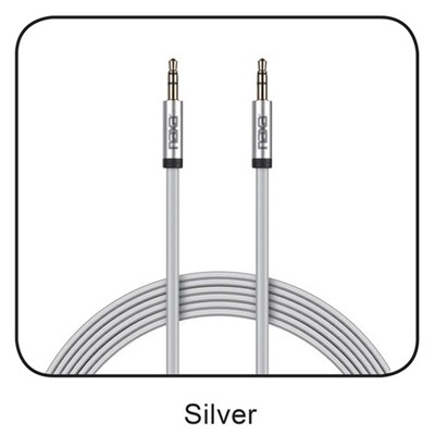 6 Ft. Tangle-Free Auxiliary Cable-SILVER