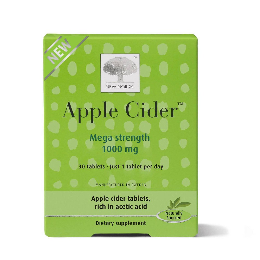 New Nordic Apple Cider Tablets - 30ct, Adult Unisex