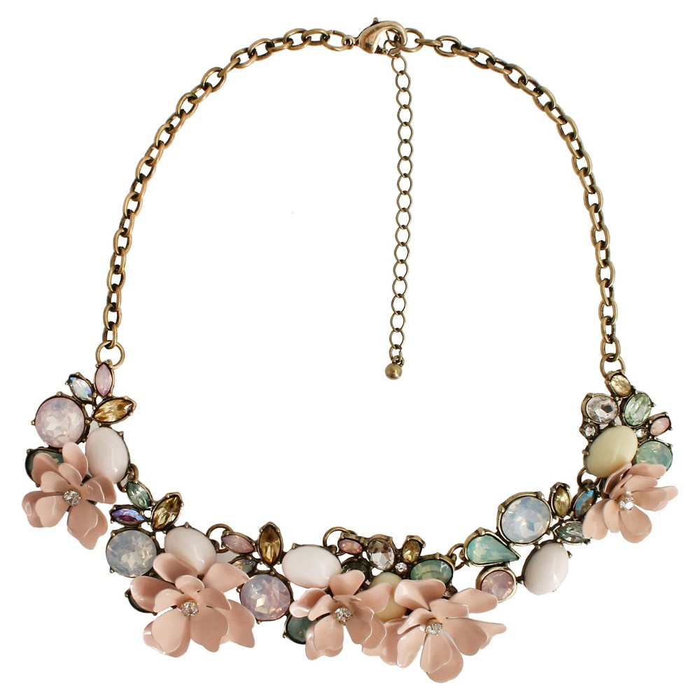 Women's Fashion Necklace with Flowers - Gold(16) Get a sweet look with the Women's Fashion Necklace with Flowers - Gold/Multicolor (16). This on-trend women's necklace will be stunning - dress up any top with this gorgeous find. Gender: Female. Age Group: Adult. Pattern: Solid.