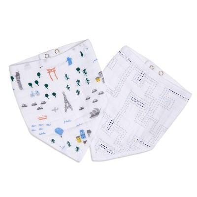 aden and anais Essentials 2pk Bandana Bib - Little Big World