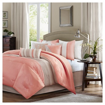 Salem Comforter Set (King)Coral - 7pc