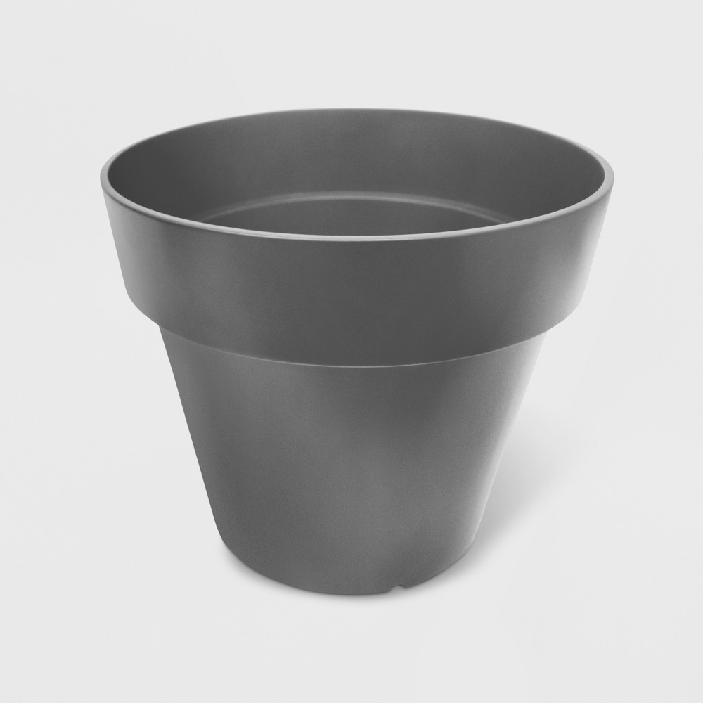 14 Recycled Tapered Planter Gray Smith Hawken 8482