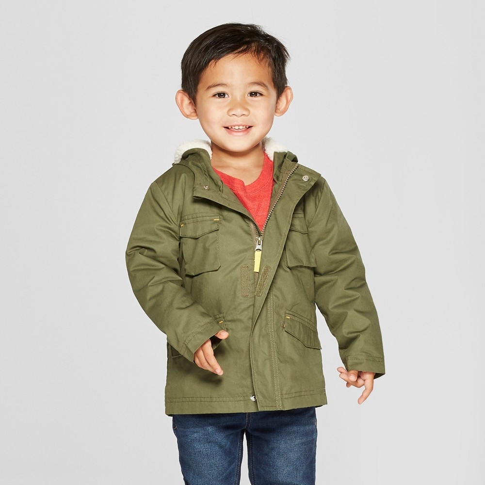 Toddler Boys' Military Jacket - Cat & Jack Green 6