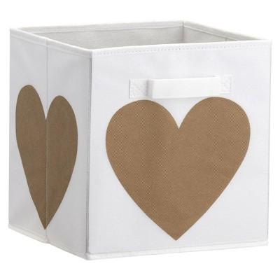 Heart Print Bin - Gold - Little Seeds