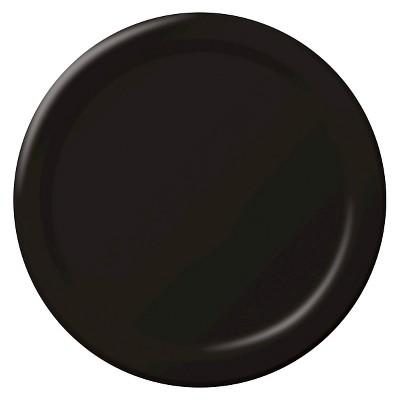 "Black 9"" Plastic Plates - 20ct"