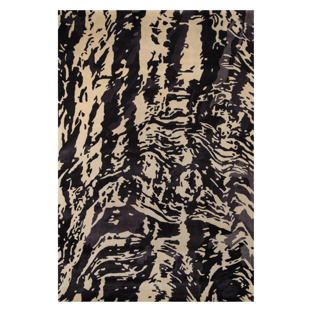 8'X11' Splatter Tufted Area Rug Charcoal (Grey) - Momeni