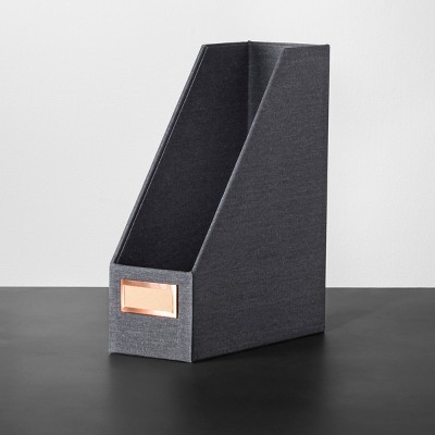 Magazine File Holder - Charcoal - Hearth & Hand™ with Magnolia