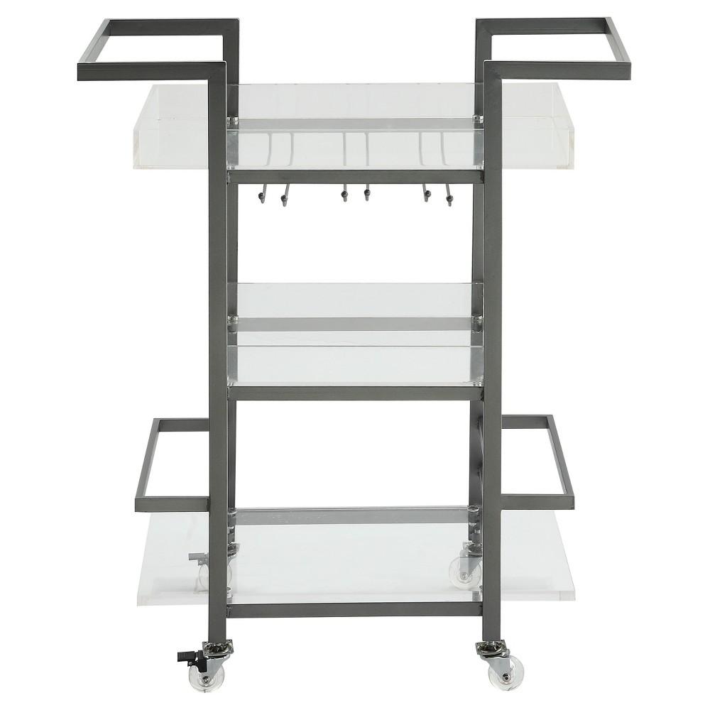 Thea Acrylic Bar Cart - Clear - Treasure Trove