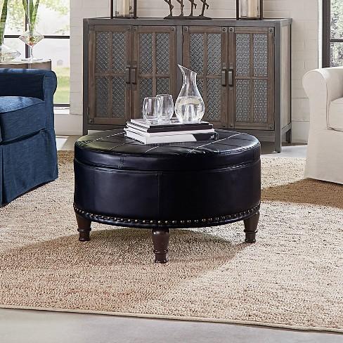 Augusta Storage Ottoman Black Osp Home Furnishings Target