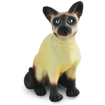Breyer Animal Creations CollectA Cats & Dogs Collection Miniature Figure | Siamese Cat