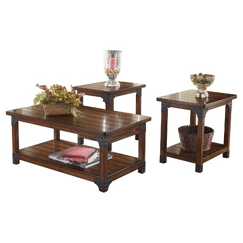 Murphy Occasional Table Set Medium Brown Of 3 Signature Design By Ashley