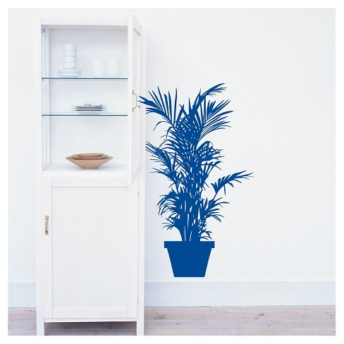 Plant Wall Decal - Blue - image 1 of 1