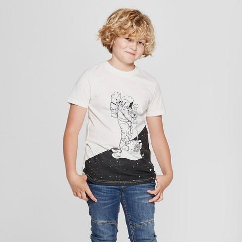 a37e61caf Boys' Short Sleeve Astronaut Graphic T-Shirt - Cat & Jack™ White ...