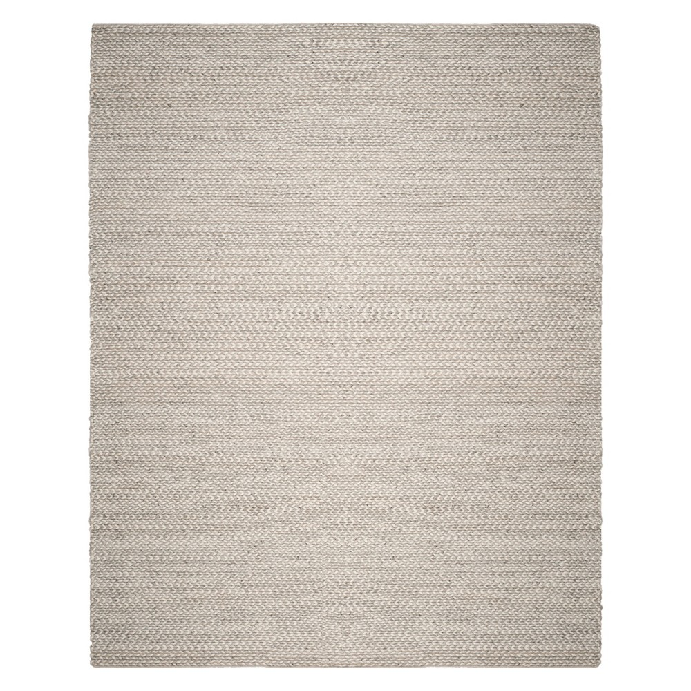 9'X12' Solid Woven Area Rug Ivory/Silver - Safavieh