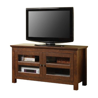 """2 Door Wood Storage Console TV Stand For TV's Up To 50"""" - Saracina Home : Target"""