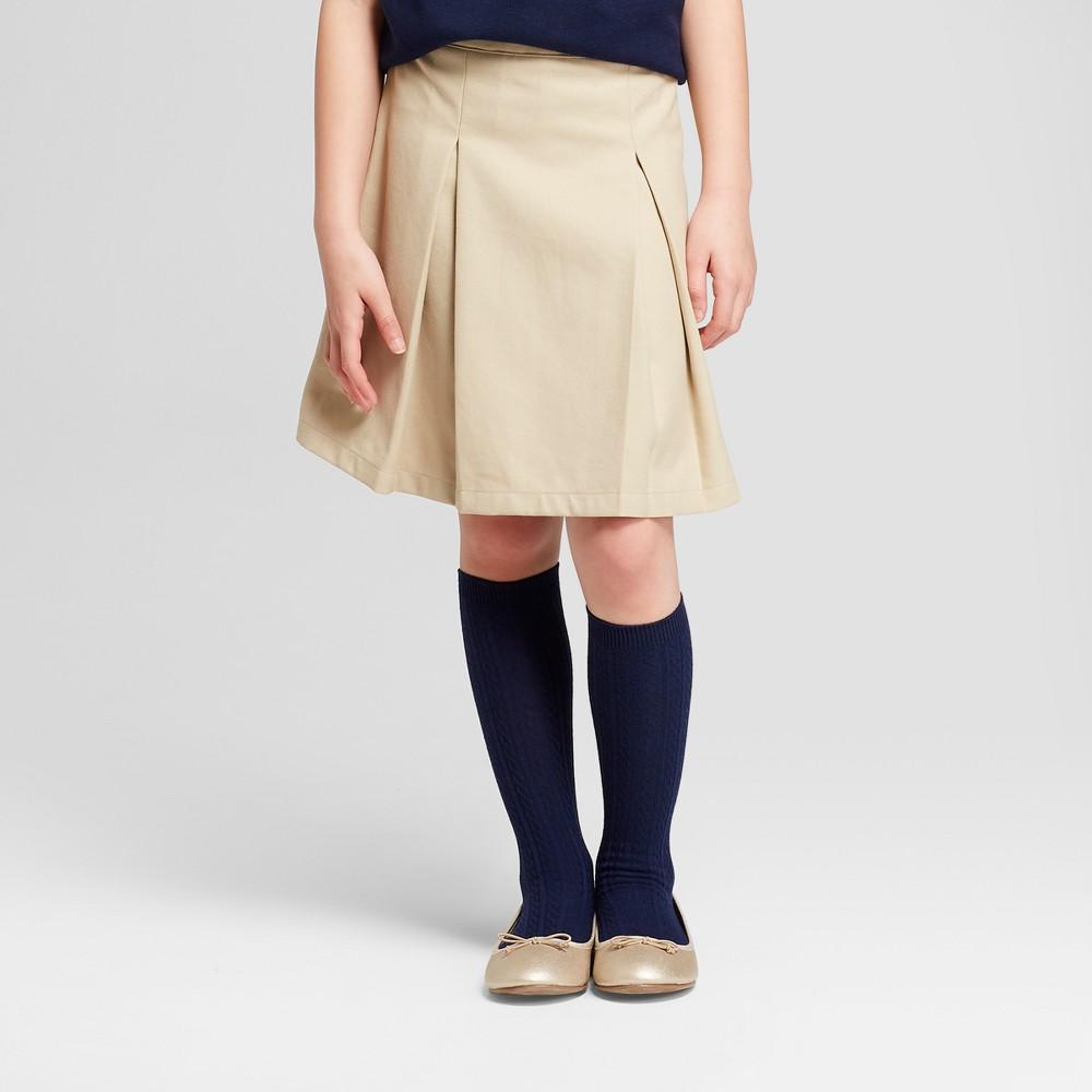 Girls' Pleated Uniform Scooter - Cat & Jack Khaki (Green) 16