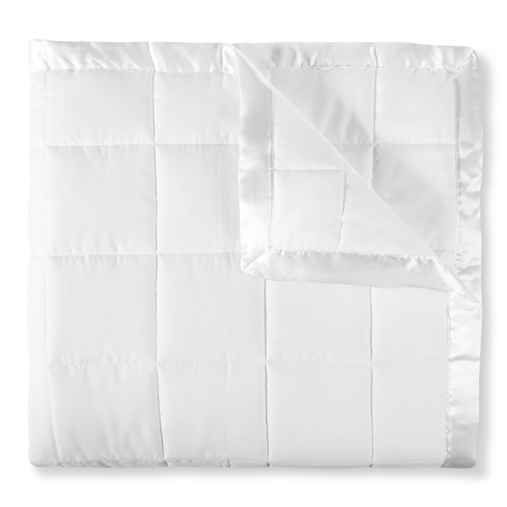 Image of Elite Home Down Alt Microfiber Blanket - White (Twin)