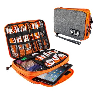 "Electronics Organizer Travel Universal Organizer Electronic Accessories Case for Cable, Charger, Phone, USB Drive, SD Card, Mini Tablet(Up to 7.9"")"