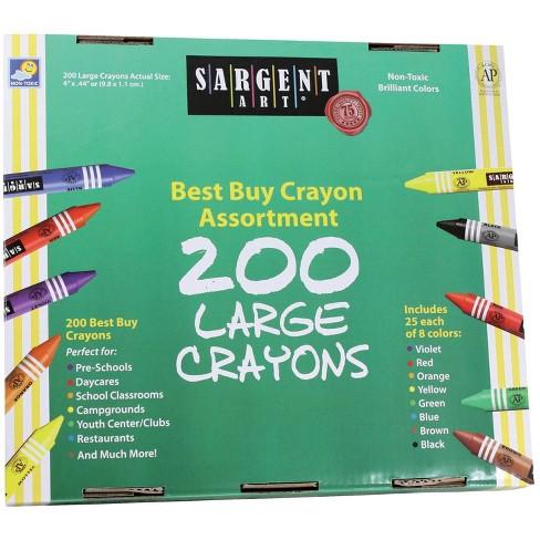Sargent Art Crayon Set, Large, Assorted Colors, set of 200 - image 1 of 1