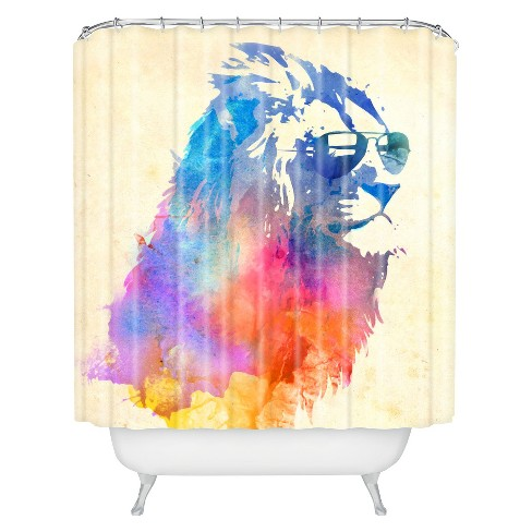 Sunny Leo Sunglasses Shower Curtain Blue/Purple/Cream - Deny Designs - image 1 of 1