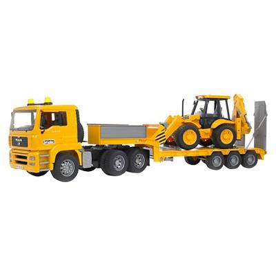 MAN TGA Low Loader truck with JCB Backhoe Loader