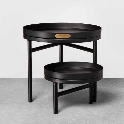 2pk Planter Stand Black - Hearth & Hand™ with Magnolia - image 1 of 2