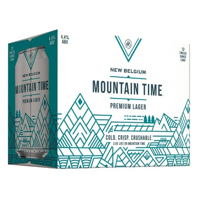 New Belgium Mountain Time Lager Beer -12pk/12 fl oz Cans