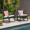 Harmony 2pk Wicker Rocking Chair - Christopher Knight Home - image 2 of 4