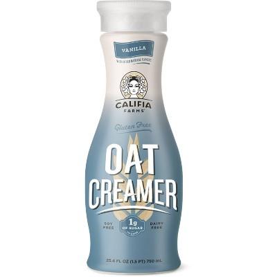 Califia Farms Vanilla Gluten-Free Dairy-Free Oat Coffee Creamer - 25.4 fl oz