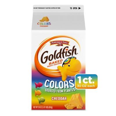 Pepperidge Farm Goldfish Colors Cheddar Crackers - 30oz
