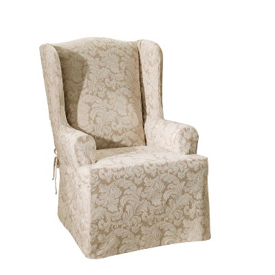 Scroll Wing Chair Slipcover - Sure Fit
