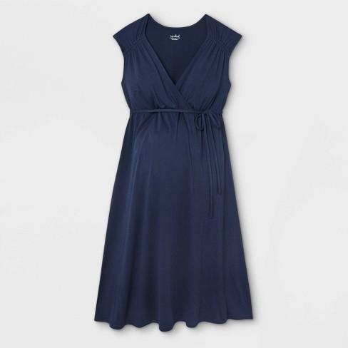 Short Sleeve A-Line Maternity Dress - Isabel Maternity by Ingrid & Isabel™ - image 1 of 2