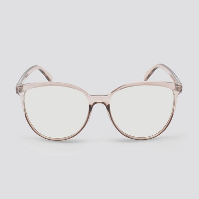 Women's Blue Light Filtering Cateye Plastic Sunglasses - Wild Fable™ Brown