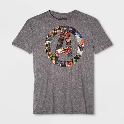 Men's Disney Marvel Avengers Short Sleeve Graphic T-Shirt - Gray M