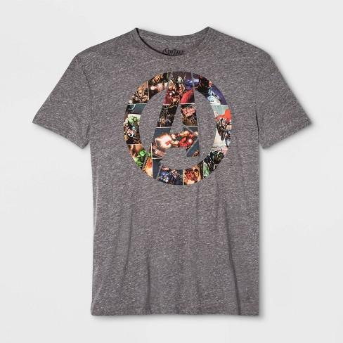 Men's Disney Marvel Avengers Short Sleeve Graphic T-Shirt - Gray - image 1 of 1