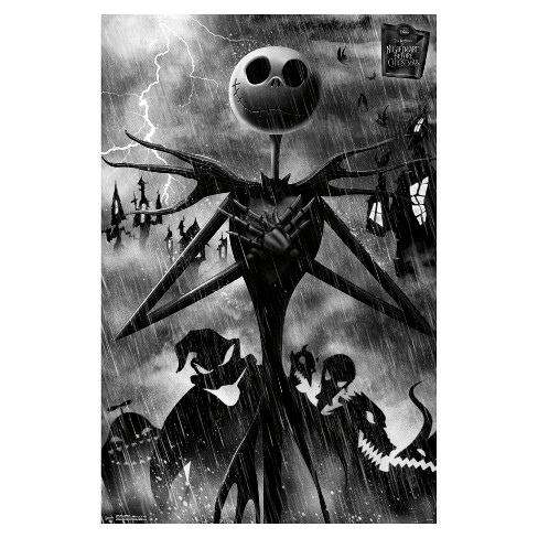 The Nightmare Before Christmas Shadows Jack Skellington Poster 34x22 - Trends International - image 1 of 2